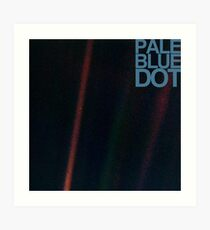 Pale Blue Dot  ( Earth from voyager ) Art Print