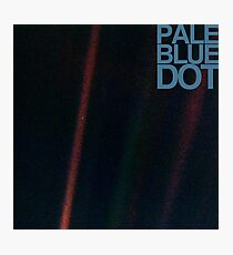 Pale Blue Dot  ( Earth from voyager ) Photographic Print