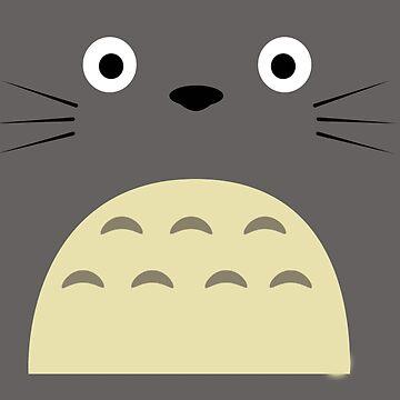 My Neighbor Totoro Face by Downyart