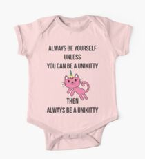 Always Be Yourself UniKitty T Shirt Kids Clothes