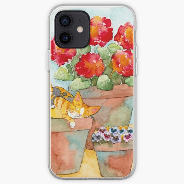Sleeping Kittens and Geraniums iPhone Soft Case