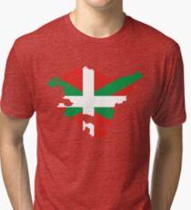 Euskadi Flag Map Tri-blend T-Shirt