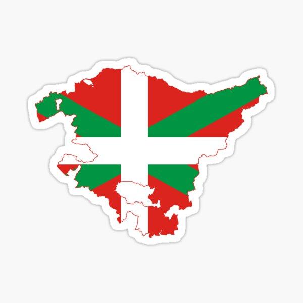 Mapa de la bandera de Euskadi Pegatina