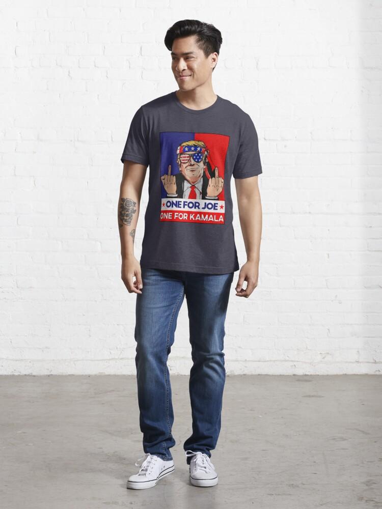 Alternate view of donald trump funny impeachment political Funny Joe Biden anti biden harris retro 2021 Essential T-Shirt