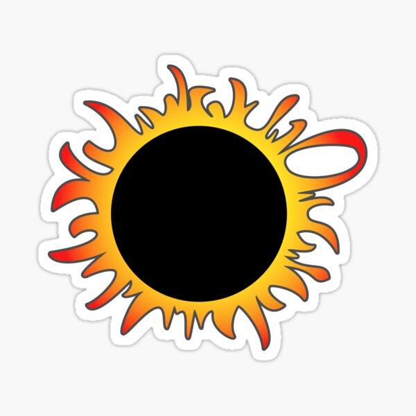 Solar Eclipse. No Virus in this Corona. Sticker