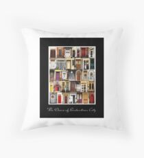 The Doors of Bordentown Throw Pillow