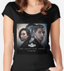 NICK JONAS FUTURE NOW CIVIC TOUR Women's Fitted Scoop T-Shirt