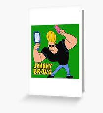 johnny bravo Greeting Card