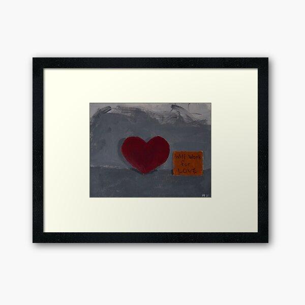 down on love Framed Art Print