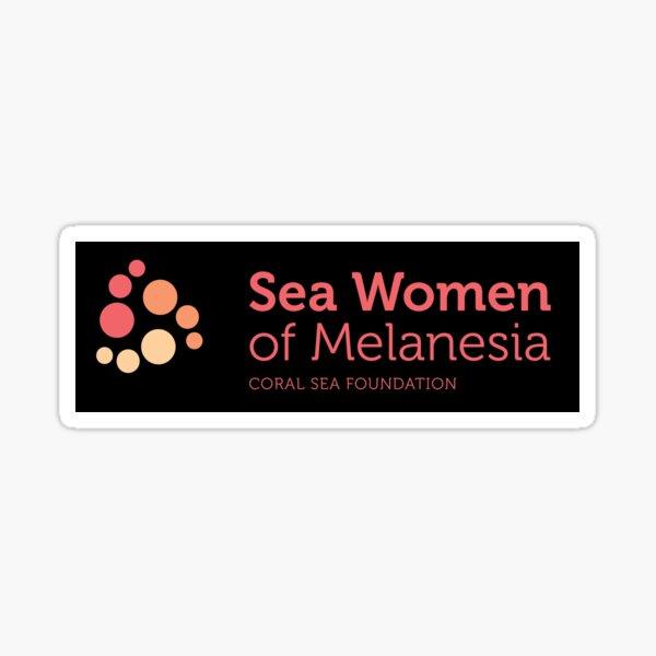 SWoM logo on black Sticker