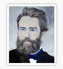 HERMAN MELVILLE - oil portrait Sticker