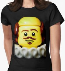 William Shakespeare in Lego form!! Womens Fitted T-Shirt