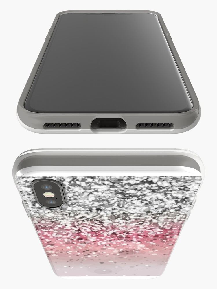 Alternate view of Pink Glitter Gradient iPhone Case & Cover