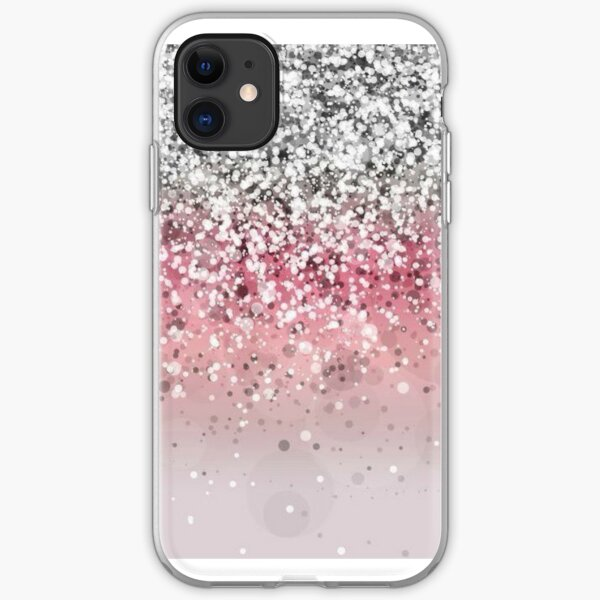 Pink Glitter Gradient iPhone Soft Case