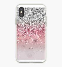 Vinilo o funda para iPhone Pink Glitter Gradient