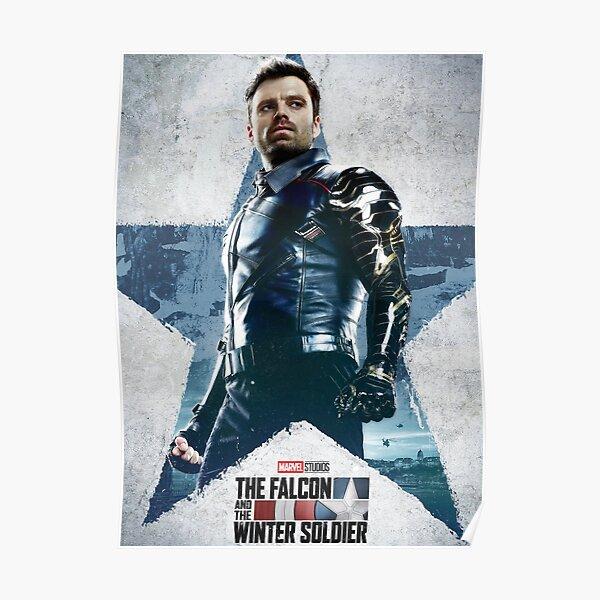 Le faucon et le soldat de l'hiver Poster Poster