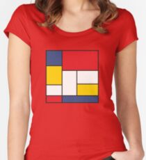 In the Style of Mondrian Women's Fitted Scoop T-Shirt
