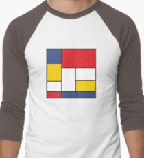 In the Style of Mondrian Men's Baseball ¾ T-Shirt