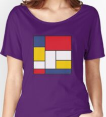 In the Style of Mondrian Women's Relaxed Fit T-Shirt