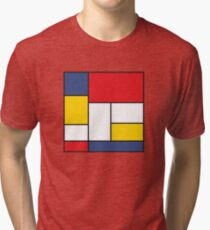 In the Style of Mondrian Tri-blend T-Shirt