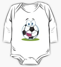 Cartoon soccer smiley ball One Piece - Long Sleeve