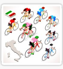 Cyclists Giro Italia Sticker