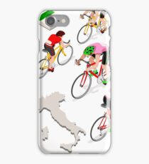 Cyclists Giro Italia iPhone Case/Skin