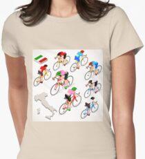 Cyclists Giro Italia Women's Fitted T-Shirt