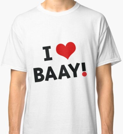 I LOVE BAAY (Black) Classic T-Shirt