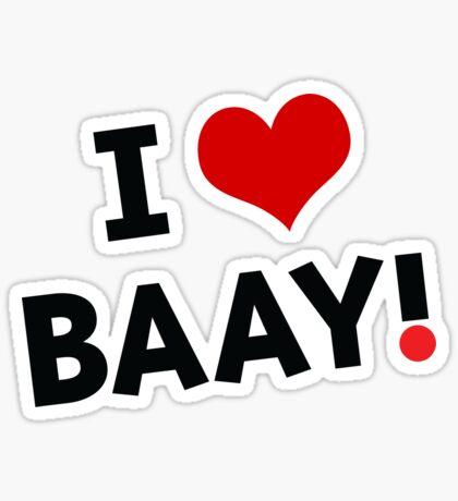 I LOVE BAAY (Black) Sticker