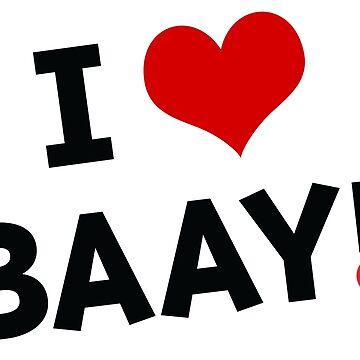 I LOVE BAAY (Black) by baay