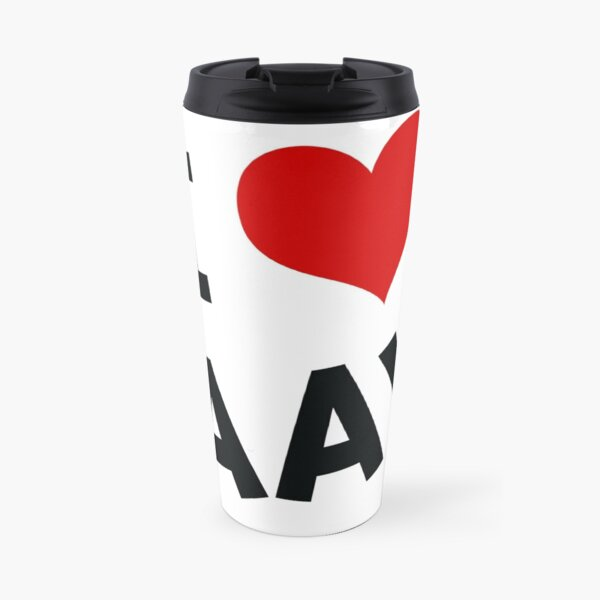 I LOVE BAAY (Black) Travel Mug