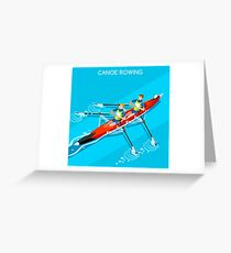 Canoe Rowing 2016 Summer Olympics Greeting Card