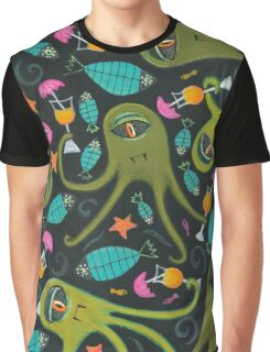 Sea Monster Party Graphic T-Shirt