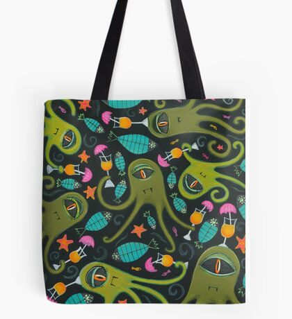 Sea Monster Party Tote Bag