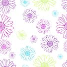 Seamless daisies by joannsnover