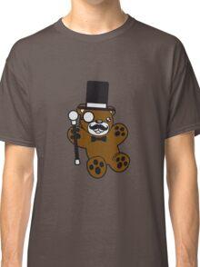 sir mr gentlemen cylinder stock monokel glasses nobility rich funny hat sweet cute comic bear taddy Classic T-Shirt
