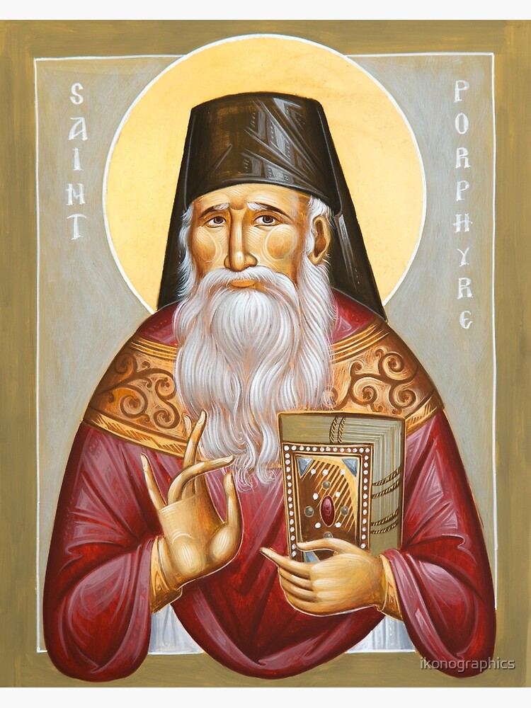 St Porphyrios of Kavsokalyvia by ikonographics