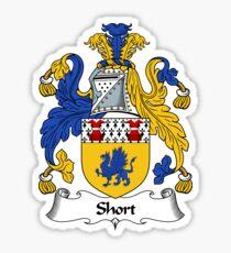 Short Coat of Arms / Short Family Crest Sticker