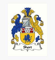 Short Coat of Arms / Short Family Crest Art Print