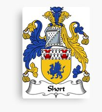 Short Coat of Arms / Short Family Crest Canvas Print