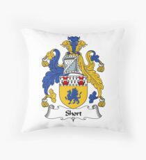 Short Coat of Arms / Short Family Crest Throw Pillow