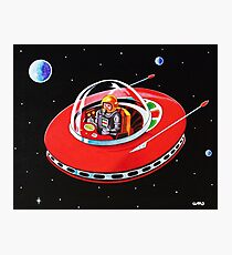 RED FLYING SAUCER Photographic Print