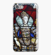 Queen Elizabeth I Stained Glass  iPhone Case/Skin