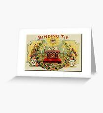 Mason's Binding Tie Greeting Card
