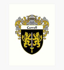 Carroll Coat of Arms/Family Crest Art Print