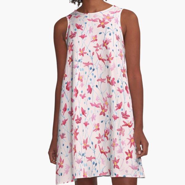 Japanese anemone A-Line Dress