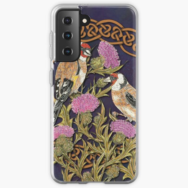 Goldfinches & Thistles Celtic Knotwork Samsung Galaxy Soft Case