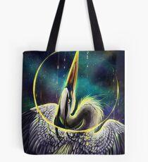 Great Blue Space Heron Tote Bag