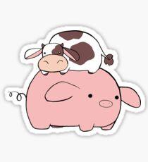 Big Pig Tiny Cow Sticker